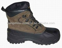 Mens Strong Suede Synthetic Leather Snow Boots