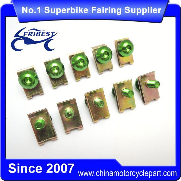 FBTUN009GR Green Universal Motorcycle Fairings Stainless bolts For CBR600RR