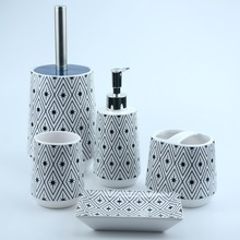 Ceramic toothbrush frame, soap dish,toilet brush bathroom accessory sets for home decoration