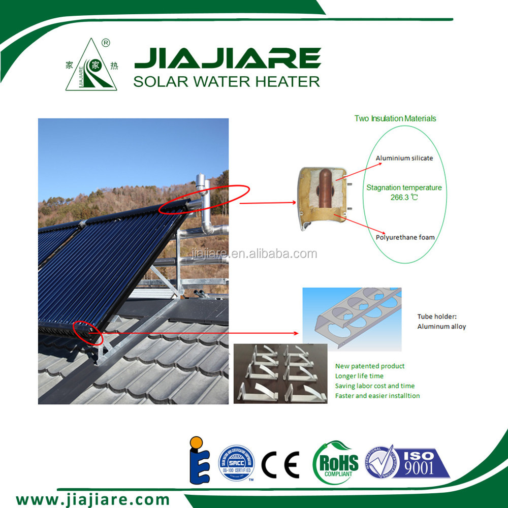 Heat pipe solar thermal collector for solar heating system