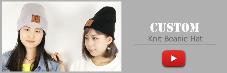 2019 wholesale custom beanie/OEM own embroidery logo 100% acrylic Knitted Fashion OEM Beanie Hat Custom Winter Hat