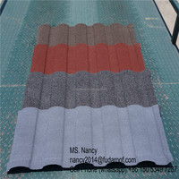 corrugated stone chips coated metal roof tiles/roof sheet/ roof panels