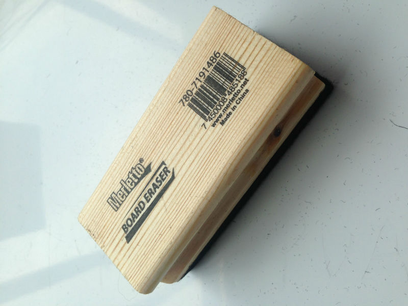 high quality wooden handle blackboard eraser