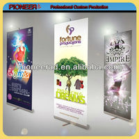 hand retractable banner fanbana fan banner