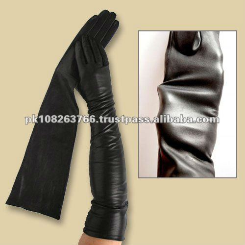 Opera leather gloves
