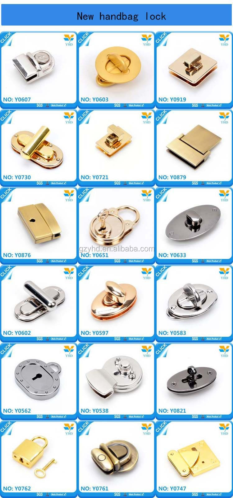 hot sale zinc alloy metal accessories metal twist lock for handbag purses