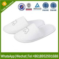 disposable customized eva Indoor slipper marriott hotel slippers with printing logo