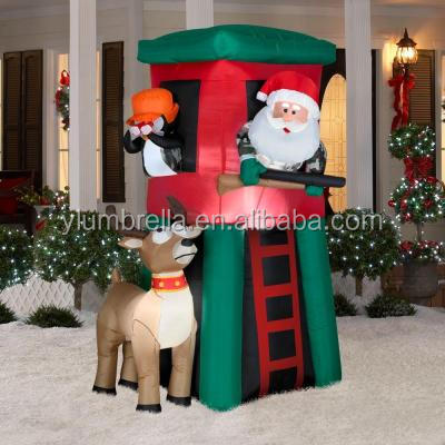 inflatable Christmas promotion products,lighting santa claus