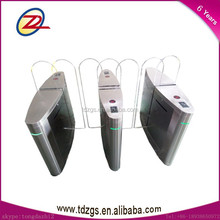 Automatic rfid reader flap turnstile gate for access control systems with smart board