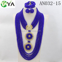 royal blue beads set fashion Jewelry Supplier