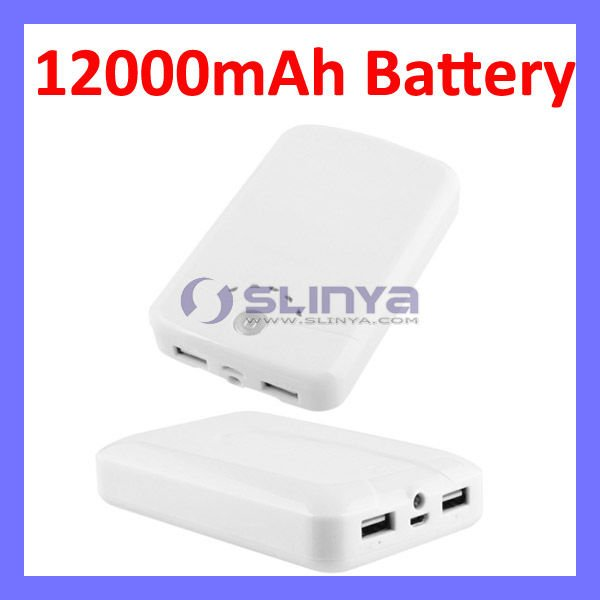 12000mAh Power Bank External Battery For iPhone 4 4s Backup Battery