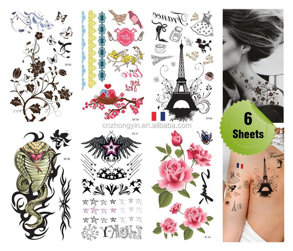 2015 hot flash gold silver temporary metallic foil waterproof adhesive body jewelry tattoo sticker /tatoos