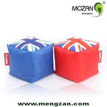 popular style good quality priting cube bean bag cover