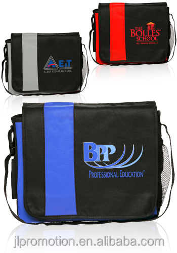 Non-Woven Accent Messenger Bags Non-Woven Custom Messenger Bags & Accent Personalized Laptop Bags