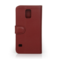 Genuine Leather Case For Galaxy S5 Flip Wallet With Stand Case 2015 China supplier