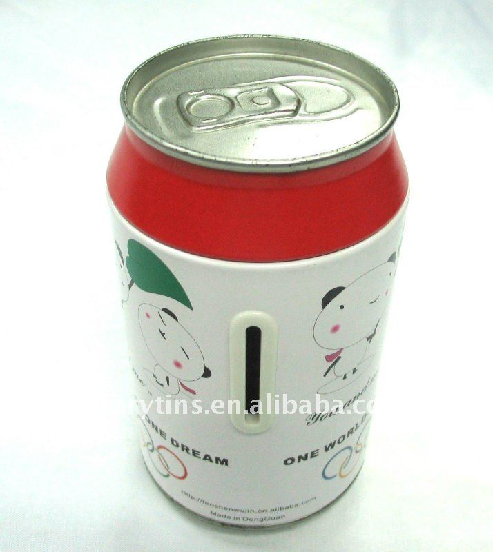 Coin bank tin box