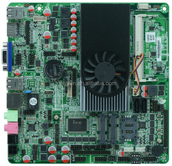 Intel 1037U Super Thin Mini All In One motherboards 10 RS232 COM,8*USB,Dual 24bit LVDS,VGA,DC12V motherboard