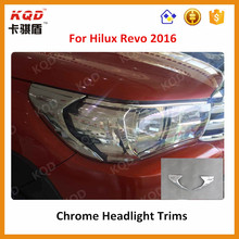 New products accessoires 4x4 toyota hilux revo headlight trims for revo 2016 headlamp cover for hilux revo 2016