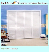 ease of assemble white louvered door from shanghai
