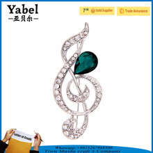 Fashion jewelry musical note shape design brooches wholesale brooches in bulk