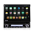 1 din flie down 7inch Car dvd player with gps android 4.4 system with WIFI dvd function