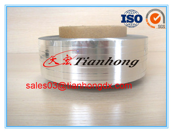 Silver color single side Aluminium foil with glue on the back AL+PET foil tape for optical cable shield