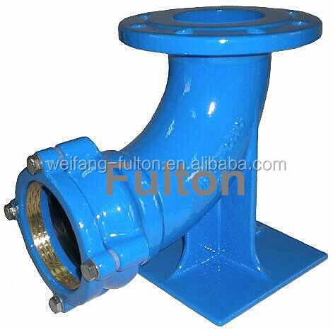 Alibaba provider of ductile iron quick loose 90 degree flange socket duckfoot bend/elbow