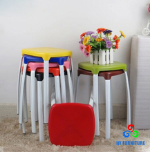Colorful garden stackable plastic stools wholesale