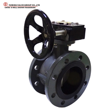 WCB Flange type worm gear butterfly valve