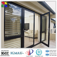 Energy saving durable electric sun shade louvers aluminium with glass