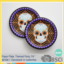 Day of the Dead Party Paper Plates