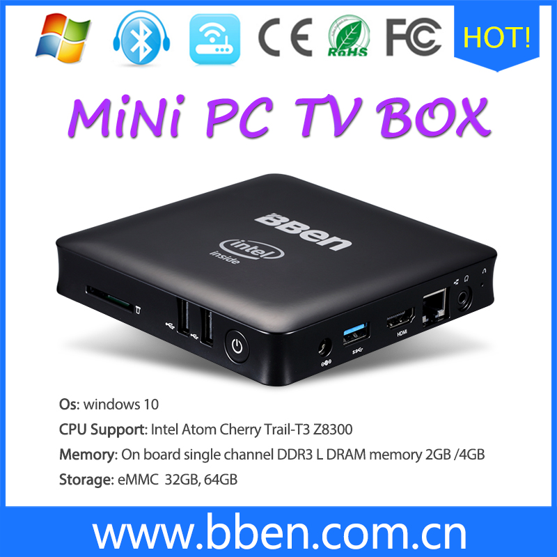 China Manufature Mini PC Z8300 HDMI 4gb android tv box with 12v