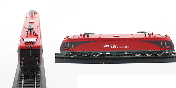 1:87 Scale Ho Gauge China Railway High-speed Electric 3D Electric Locomotive HXD3D number 1893 Mao Ze Dong