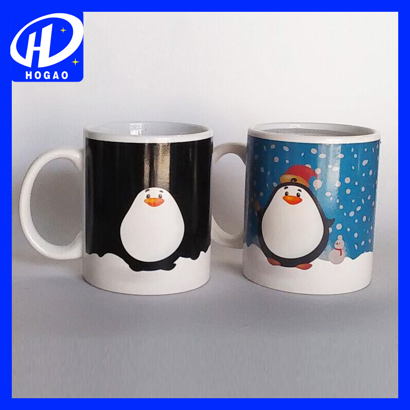 Heat Sensitive Color Changing Penguin Coffee Mug