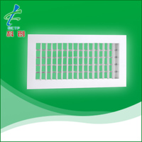 aluminum adjustable double deflection air grille for HVAC system