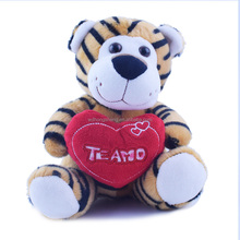 Wholesale valentine's day gift stuffty plush tiger toys new style