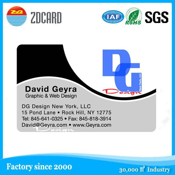 High class cheap price plastic business cards online
