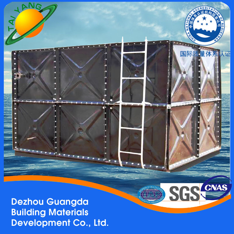 Guangda welded connection enamel strip water tank with high quality and low price