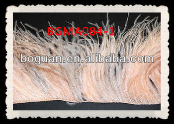 Wholesale Ostrich Feather Fringe Peach
