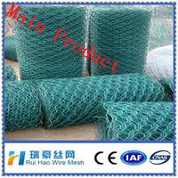 white and green pvc coated steel chicken wire mesh