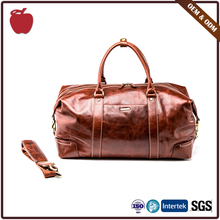 Experienced Factory 100% Leather Travel Bag Nice Design Super Quality Men'S Duffle Bag