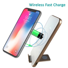 Universal Mobile Phone Fast Qi Wireless Charger For Iphone 8 8Plus For Iphone X For Samsung