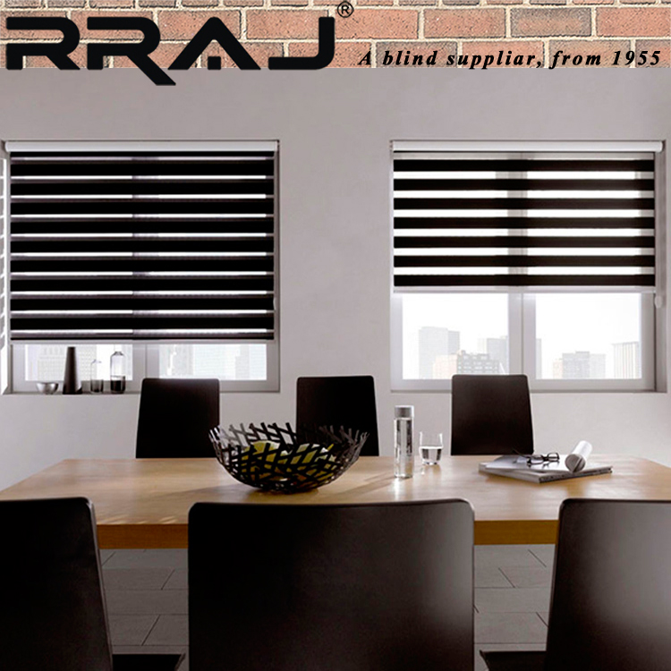 RRAJ Electronic Day and Night Curtain Blinds Zebra