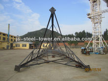 Three legged lattice 60 degree angle steel telecom tower