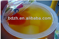 Big plastic PP,PET pots used heatseal lids film,easy peel with printing for dairy products