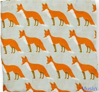 print cotton muslin baby blanket