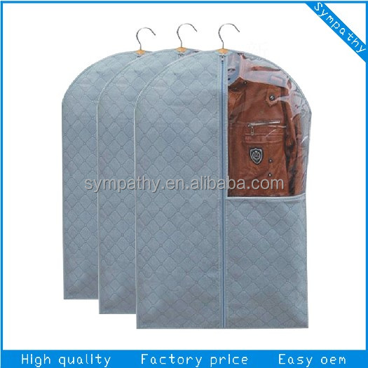 nonwoven PP zipper suit cover / dust proof clothing cover