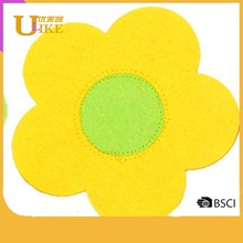 4 Colours Sunflower Felt Coasters Placemats- Place Mat Cup Mug Drinks