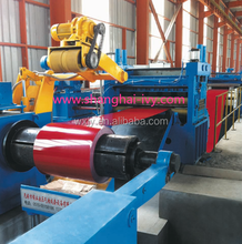 light gauge HR CR steel coil cutting to length line