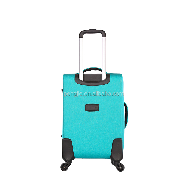 China Factory Custom Design Blue Polyester Travel Luggage